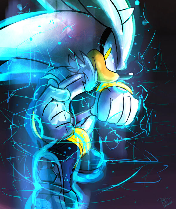 Silver the hedgehog ( Speedpaint ) by Omiza
