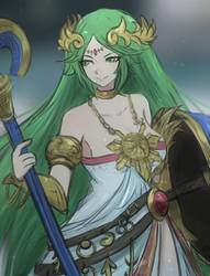 Lady Palutena by Omiza-Zu