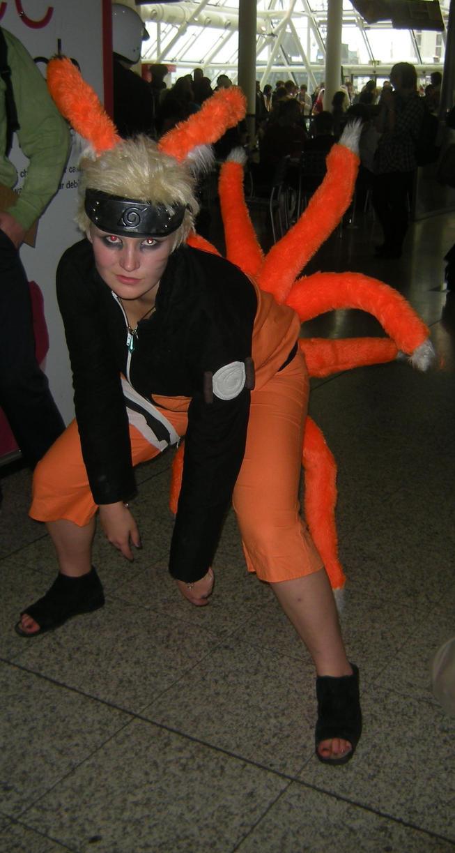 fox tailed Naruto cosplay nine