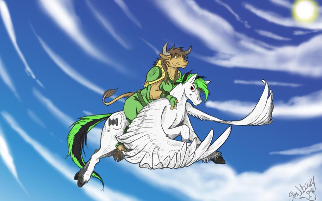 Riding Pony by StarNob