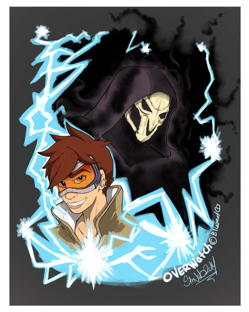 Tracer vs Reaper by StarNob