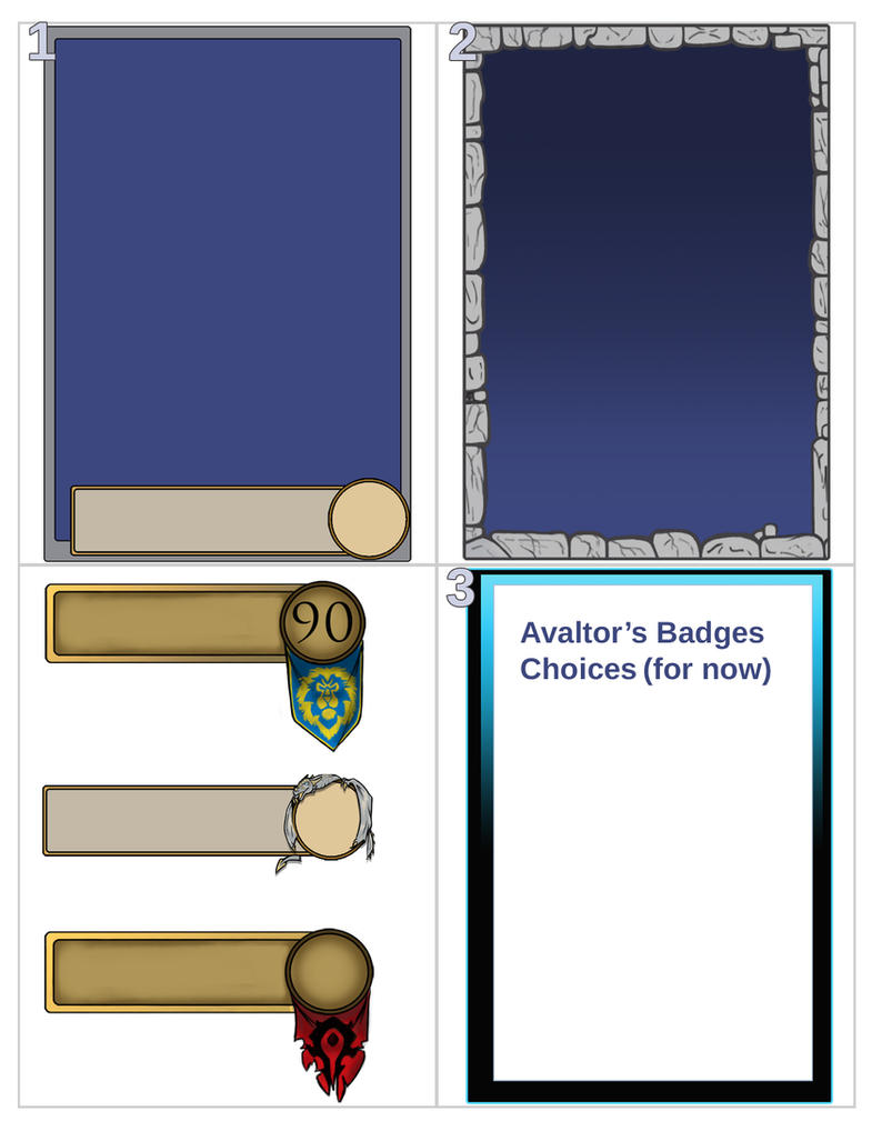 Avaltor Badge choices by StarNob