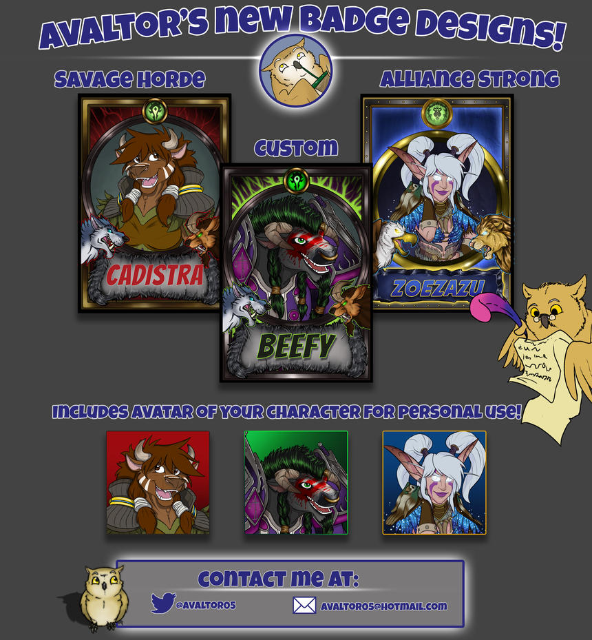 StarNob-2016 Badges Examples Promotion by StarNob