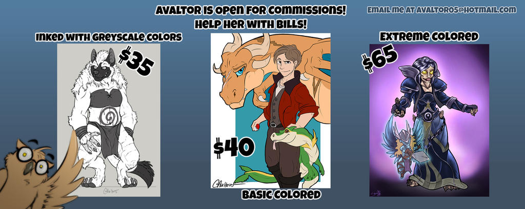 Avaltor2017 commissions- simpler by StarNob