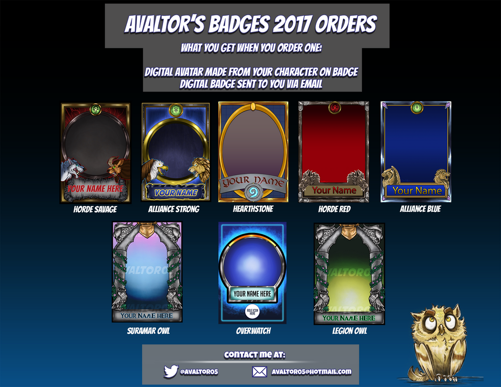 2017 Badges Selling Poster Info by StarNob