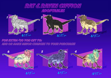 Raven and Rat Giffin 2019-adoptables