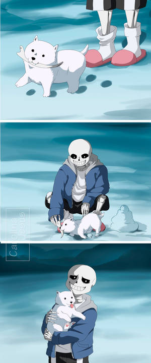 Undertale: Sans and Annoying Dog.