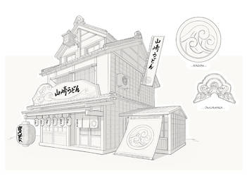 Traditional Udon House by flayd