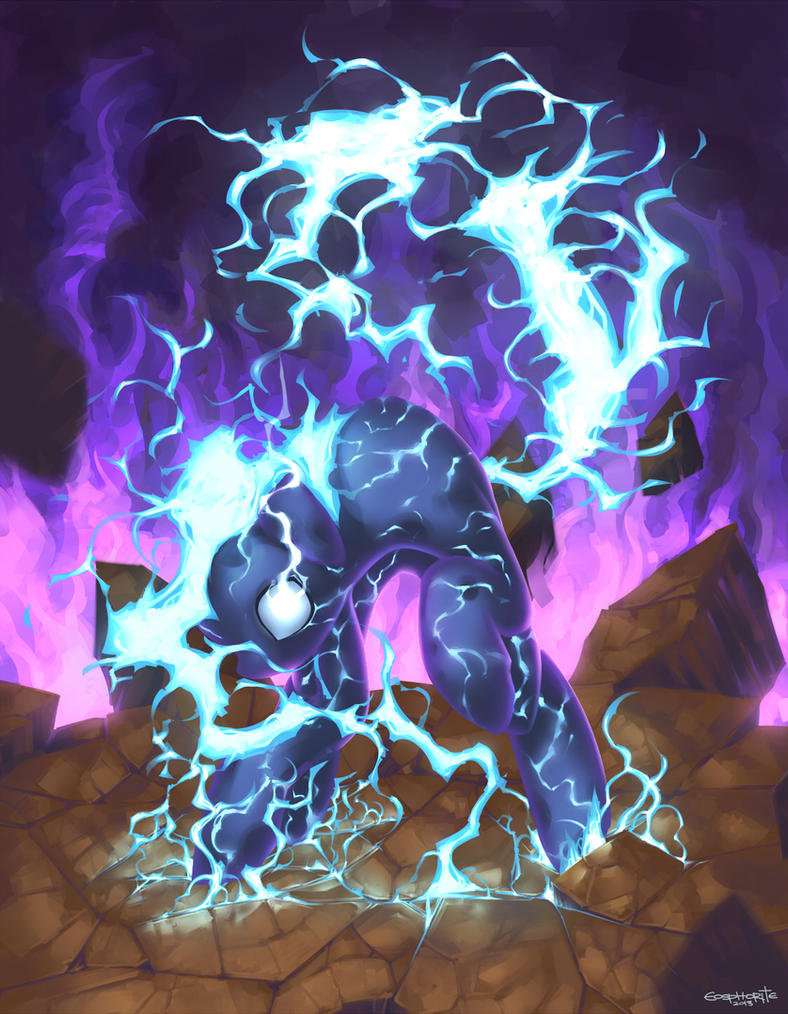 Commission: Galloping Thundermare by Eosphorite