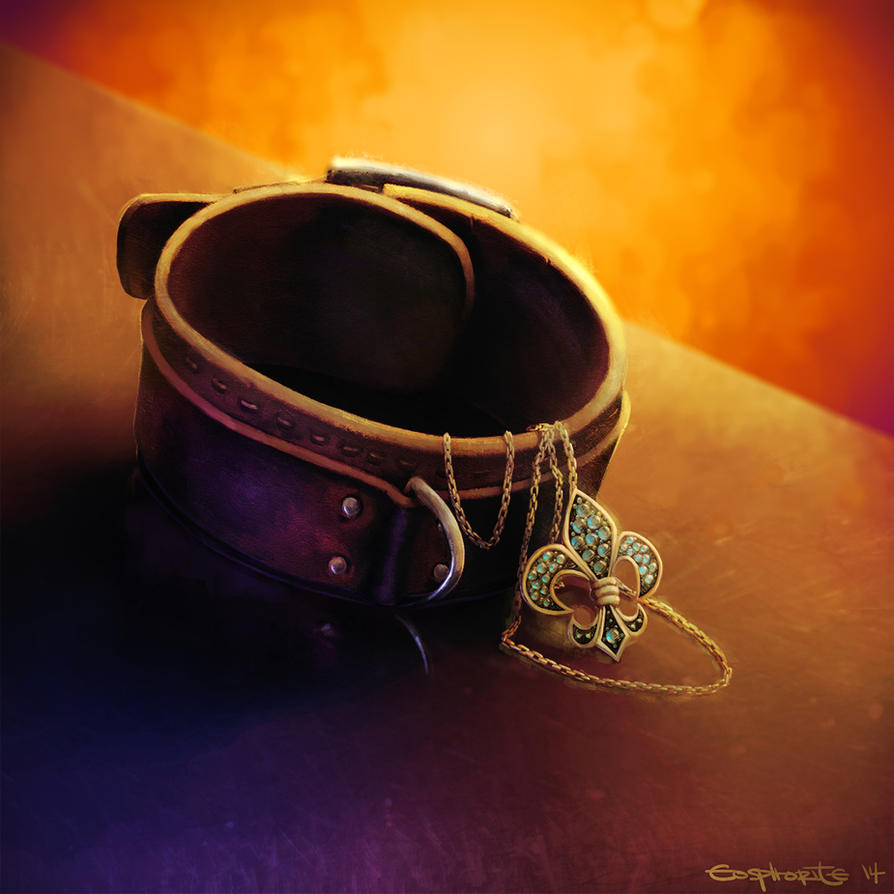 Commission: Chained Collar by Eosphorite