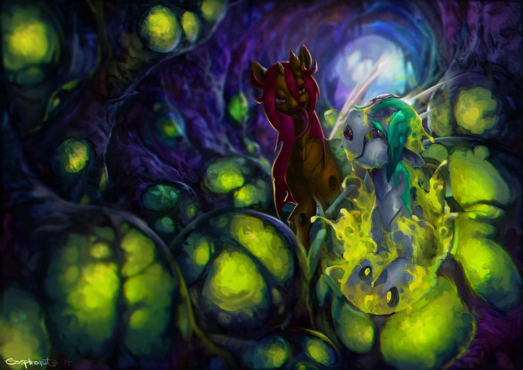 Commission: Dew Droplet X Garnet Glitter by Eosphorite