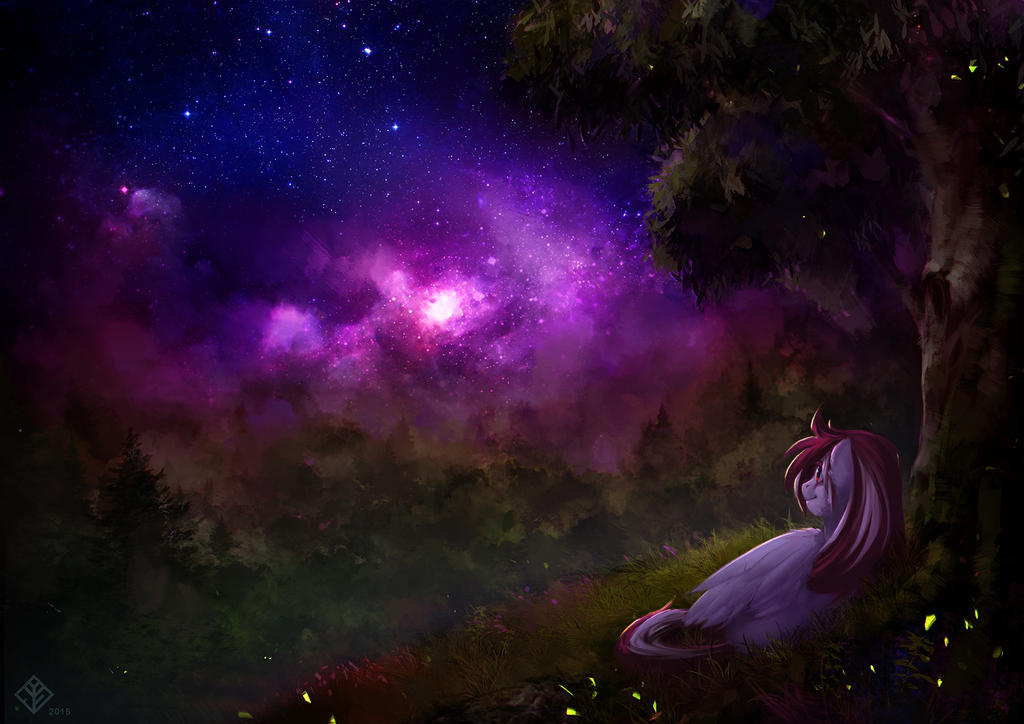 Commission: Stargazing #1 by Eosphorite