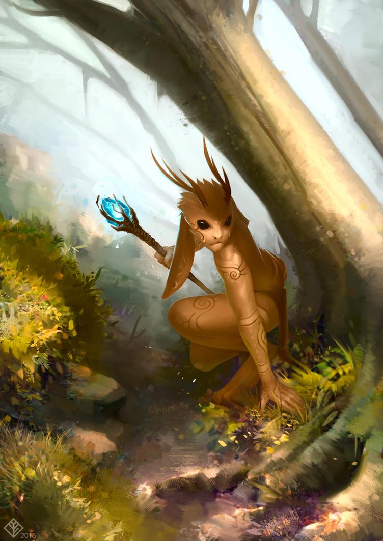 Commission: Jackalope by Eosphorite