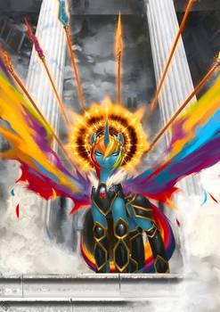 Commission: Alicorn Rainbow Dash
