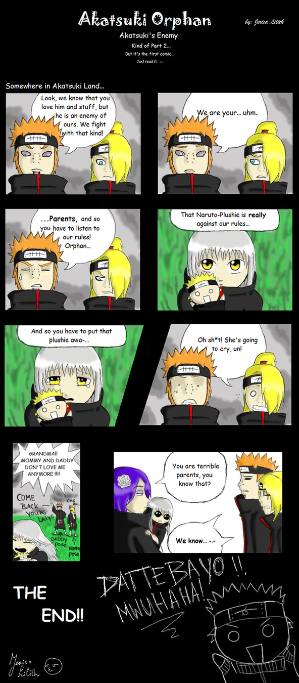 Akatsuki Orphan - Comic 1 by JericaLilith