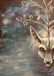 Misty deerthing by Spyrre