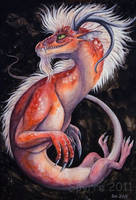 Red dragon by Spyrre