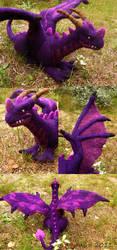 Felted purple dragon by Spyrre