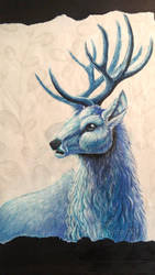 The blue stag