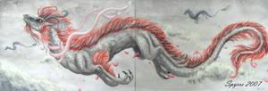 Flying oriental dragon