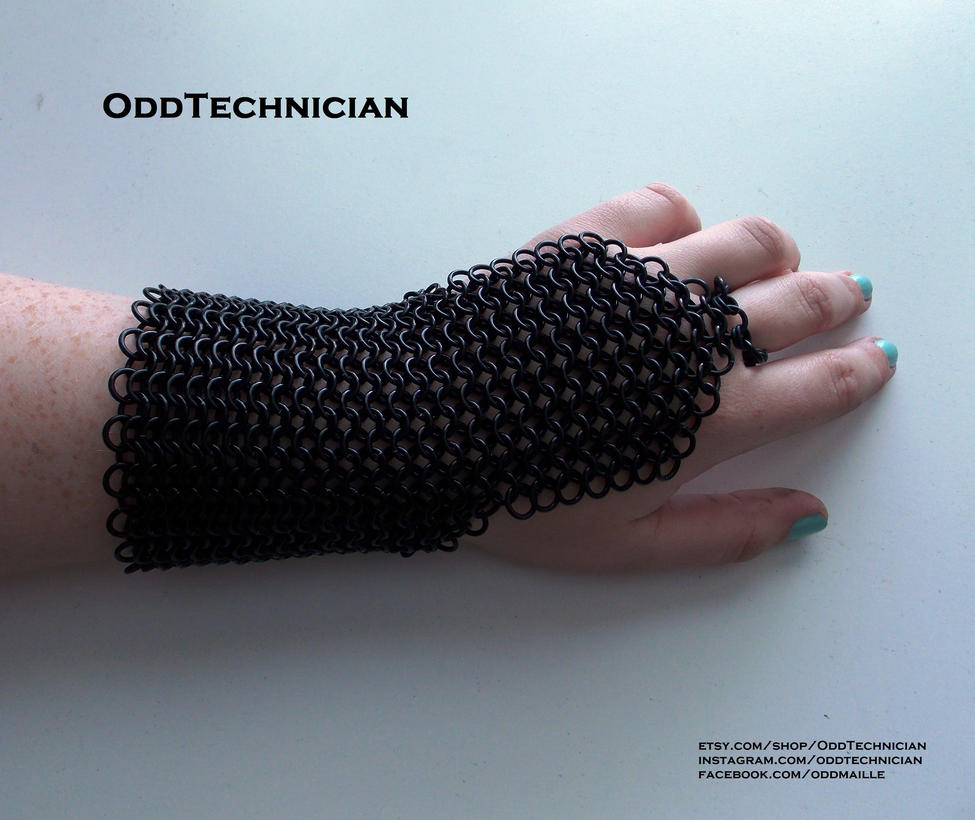 Chainmaille Black Bracer Set by ulfchild