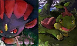 Shadow Claw and Leaf Storm by salanchu