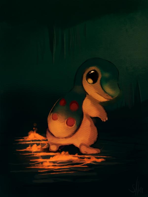 Qual pokémon é mais fofo?  - Página 2 Cyndaquil_painting_by_salanchu-d3cijes