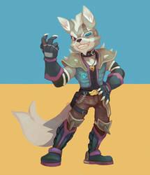 Wolf posing 2 by salanchu