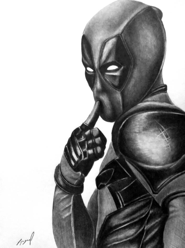 Deadpool pencil drawing by morkedin on deviantart