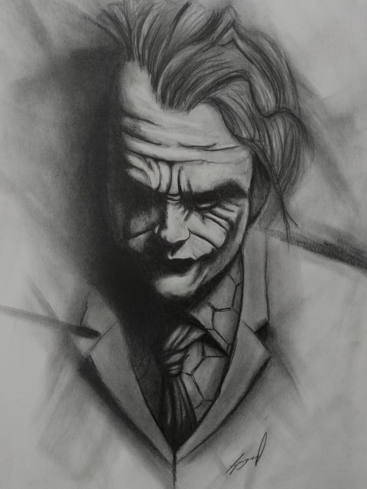 The Joker Pencil Drawing By Morkedin On Deviantart