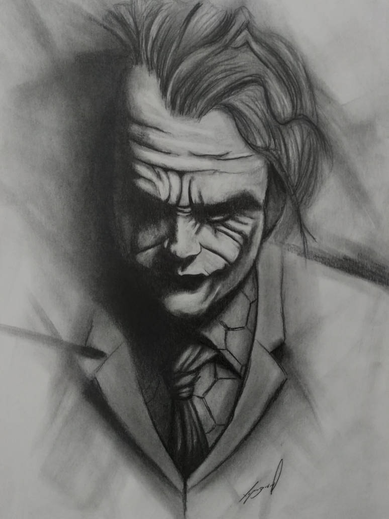The joker pencil drawing by morkedin on deviantart
