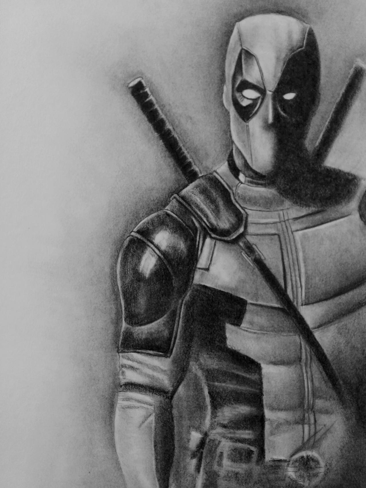 Deadpool Drawings In Pencil