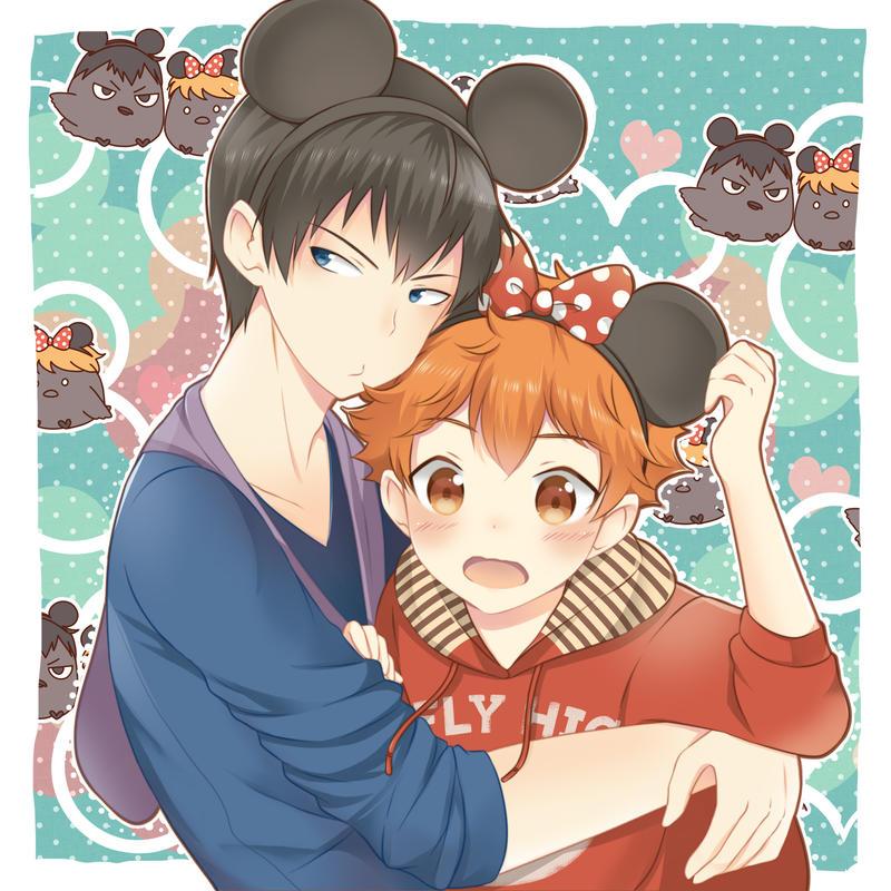 kagehina - Mickey n Minnie by IchigoRanch on DeviantArt