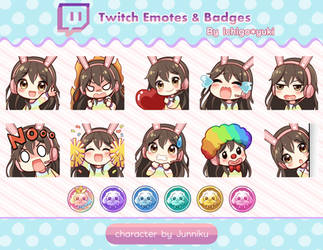Twitch Emotes and Badges for Juuniku