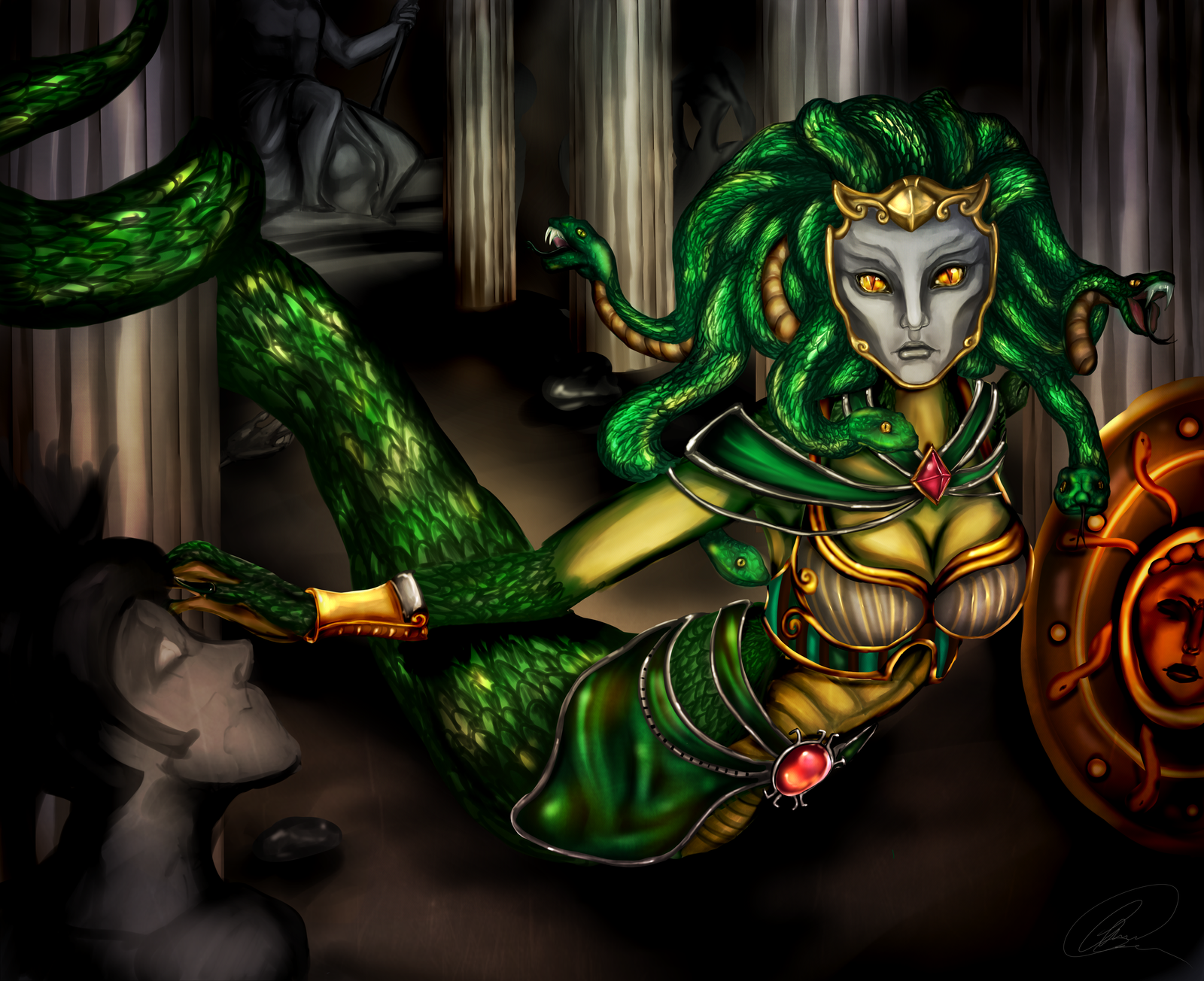 Medusa - The Gorgon by MaMze95 on DeviantArt