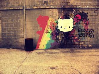 Hello Kitty Graffiti by xXxEli
