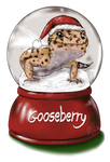 Gooseberry the Christmas gecko by GooseberryGecko