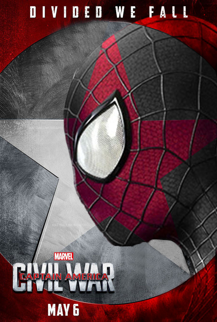 Captain America Civil War Spider Man Poster By Mumba398