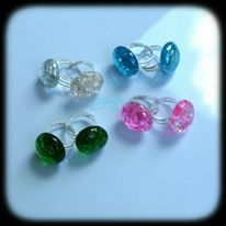 shattered glass rings by Desolo-Amour