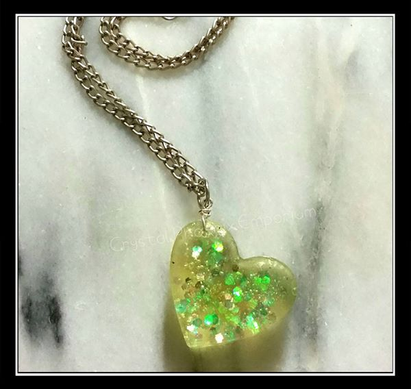 Mermaid Scale Heart Pendant by Desolo-Amour