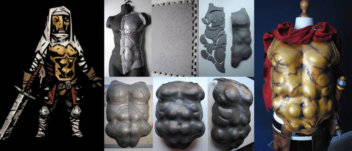WIP Darkest Dungeon Leper Cosplay- Breastplate