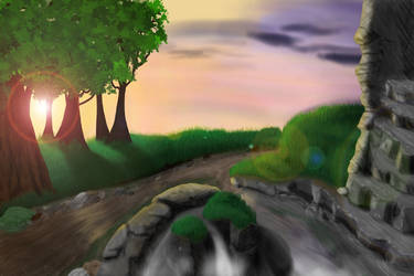 Background w/ fixed trees - WIP by Xepharon