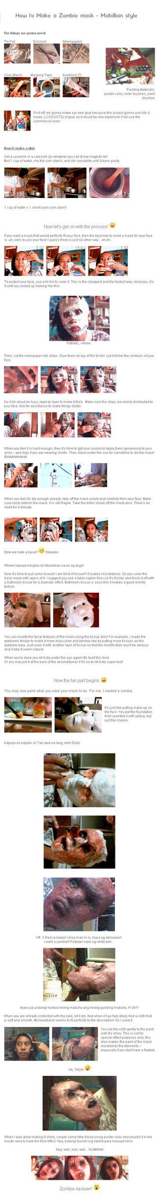 How to make Zombie Mask