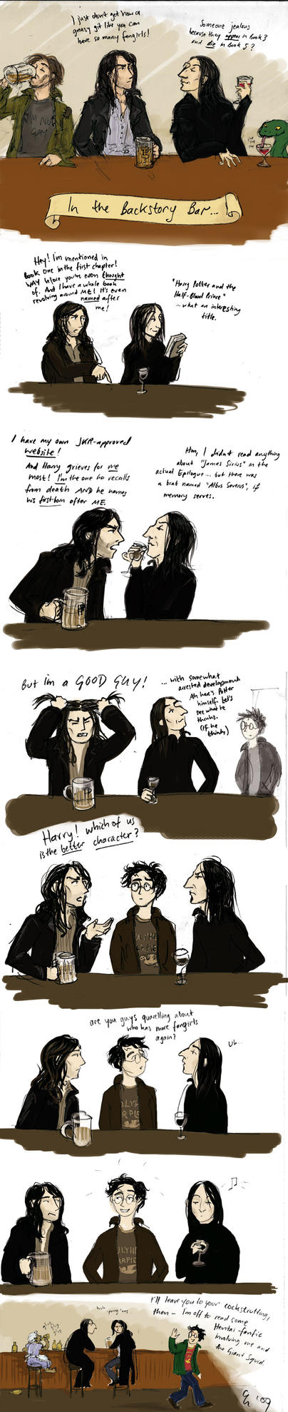 potter calling the snape black by TomScribble