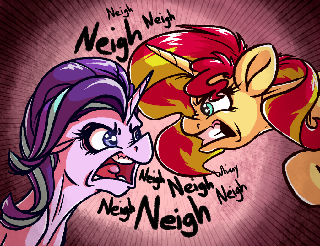 Angery Reformed Horses by WitchTaunter