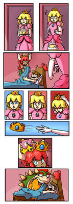 Bowsette Comic Alt by WitchTaunter