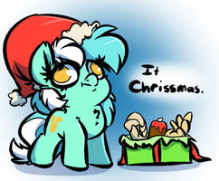 Christmas Human Horse by WitchTaunter