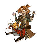 Anders and Ser Pounce-A-Lot