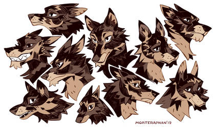Wolf Heads by morteraphan