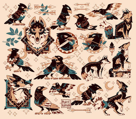Birds, Wolves and Leaves